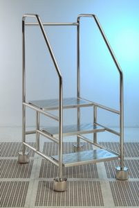 Cleanroom 3 Step Ladder