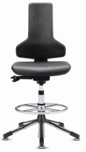 Cleanroom Ergo Chair with foot-ring