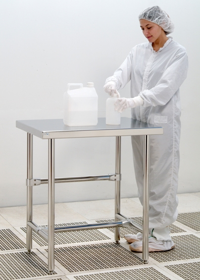 Cleanroom Heavy Duty Table - Solid Top