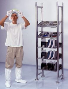 Cleanroom Tray & Shelf Unit-172