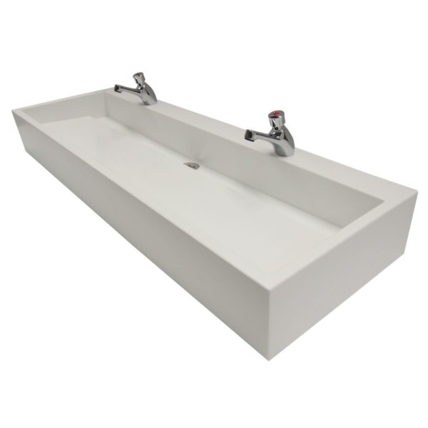Contemporary Solid Surface Wash Trough