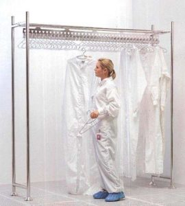 Gownracks - For Full Length Cleanroom Coveralls