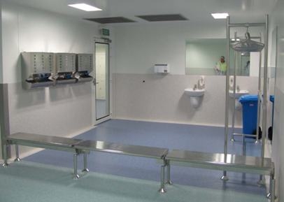 Modular Step Over Bench Cleanroom Equipment
