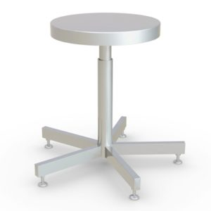 Stainless Steel Stool - Adjustable Height