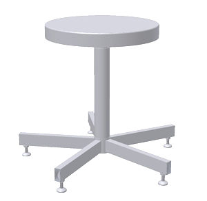 Stainless Steel Stool - Fixed Height