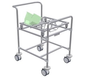 Wafer Cassette Transport Cart