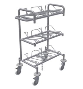 Wafer Transport Cart - 6 nests for 8 inch wafers