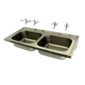 DOUBLE BOWL HOSPITAL SINK-521