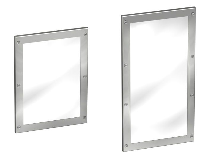 FRAMED STAINLESS STEEL MIRROR - Cleanroom Equipment