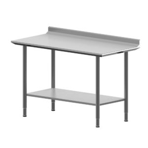 Hygienic Design Worktable With Upstand, Shelf -964