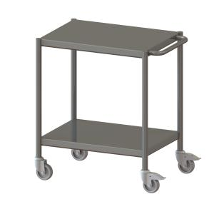 Clean Room Trolley Without Profile Edge, 2 Floors -1018
