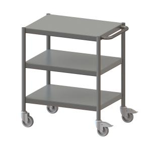 Cleanroom Trolley Without Profile Edge, 3 Floors -1017