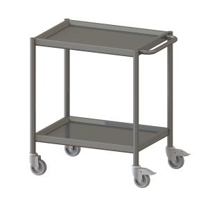 Cleanroom Trolley With Profile Edge, 2 Floors -1019