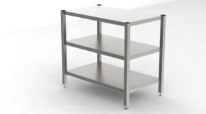 Cleanroom Rack With 3 Smooth Shelves-1194