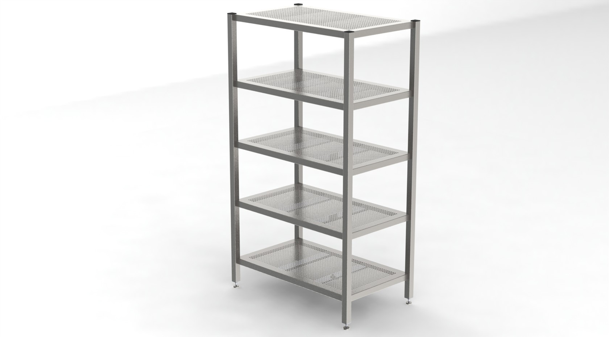 Cleanroom Rack With 5 Perforated Shelves -1199