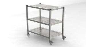 Transport Trolley Consisting of Shelves Square Profiles 3 Floors-1209